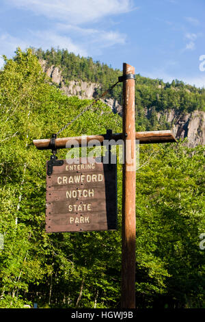 Crawford Notch State Park in new Hampshire's White Mountains. - Stock Photo