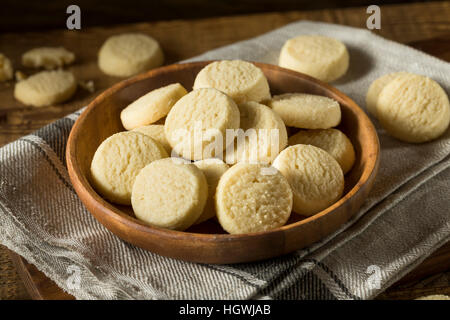 Homemade Sweet Shortbread Cookies Ready to Eat - Stock Photo