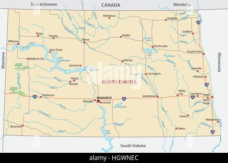 North dakota map Stock Photo Royalty Free Image 103450603 Alamy