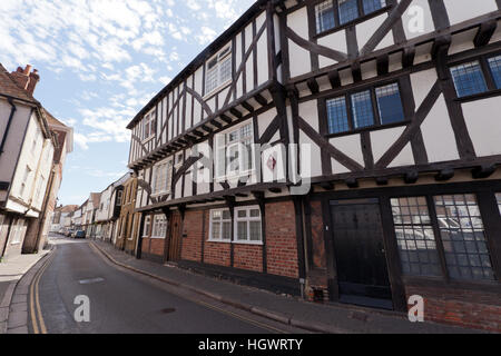 39 and 41 Strand Street Sandwich, Kent formerly known as Pilgrim's House) is a 14th to 16th-century timber framed - Stock Photo