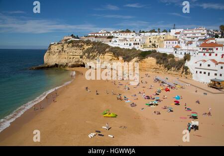 Carvoeiro Beach, Lagoa, Algarve, Portugal - Stock Photo