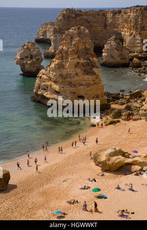 Marinha Beach, near Carvoeiro, Algarve, Portugal - Stock Photo