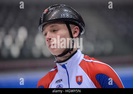 Torino, Italy. 12th Jan, 2017. Oliver Ringer during the National Slovakia workouts for the ISU European Short Track - Stock Photo