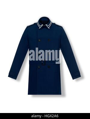 blue coat on a white background - Stock Photo
