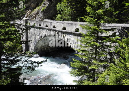 Old road to Davos - Stock Photo