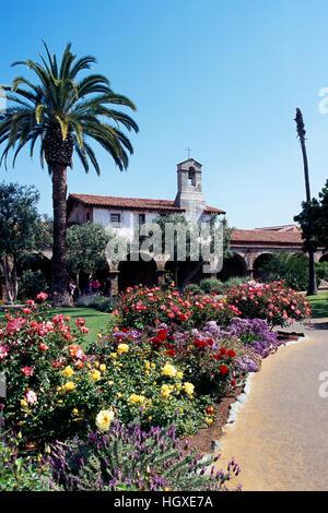Mission San Juan Capistrano, California, USA - Historic Landmark founded 1776 - Stock Photo