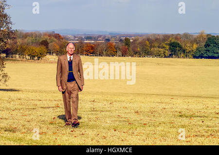 Lord Hampden, on his estate at Glynde Place, near Lewes, East Sussex. - Stock Photo