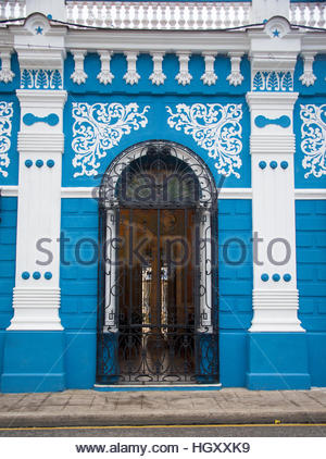 CULTURAL DIVERSITY HOUSE IN CAMAGUEY Colonial architecture is a tourist attraction in the Caribbean Island. Camaguey - Stock Photo