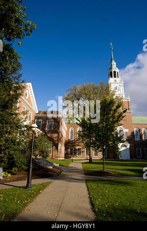 Baker Hall on the Dartmouth College Green in Hanover, New Hampshire. - Stock Photo