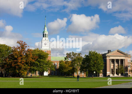 The Dartmouth College Green in Hanover, New Hampshire. - Stock Photo