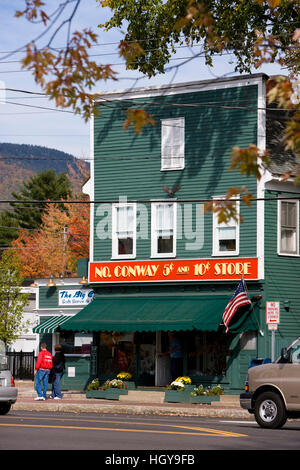 The five and dime in North Conway, New Hampshire. - Stock Photo