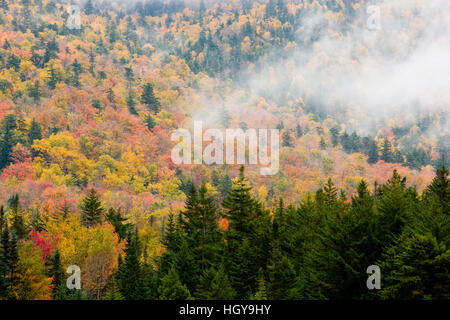 Fall in New Hampshire's White Mountains.  Crawford Notch. - Stock Photo