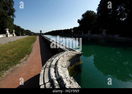 Caserta, Italy - July 29th, 2016 : Fountain detail in the garden of the Royal Palace in Caserta. - Stock Photo