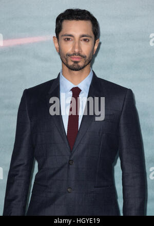 'Rogue One: A Star Wars Story' London premiere held at the Tate Modern - Arrivals  Featuring: Riz Ahmed Where: London, - Stock Photo
