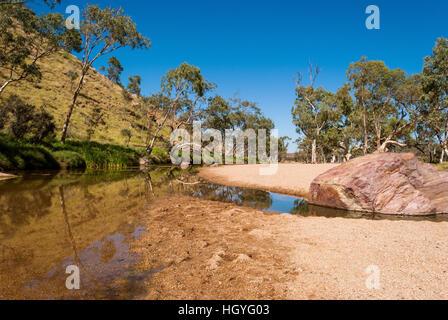 Simpsons Gap, MacDonnell Ranges, Australia - Stock Photo