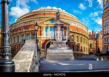 The Royal Albert hall entrance in South Kensington, London, UK - Stock Photo