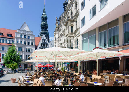 Zwickau: Main market with St. Mary's Cathedral, , Sachsen, Saxony, Germany - Stock Photo