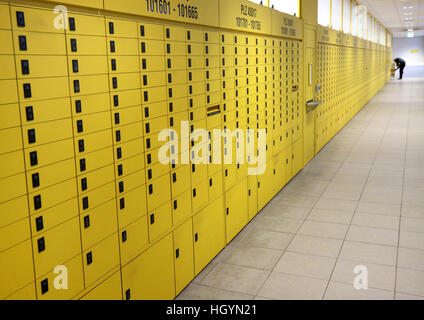 Essen, Germany. 11th Jan, 2017. PO boxes in a post office in Essen, Germany, 11 January 2017. The German postal - Stock Photo