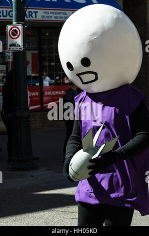 Calgary, Alberta, Canada - April 17 2015: Cosplay from the Calgary Comic an Entertainment Expo Parade of Wonders - Stock Photo