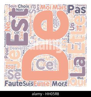 Avis d un etudiant text background wordcloud concept - Stock Photo