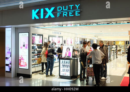 A duty free shop at Kansai international airport in Osaka, Japan. - Stock Photo