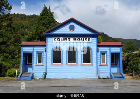 The former courthouse of Reefton in New Zealand. - Stock Photo