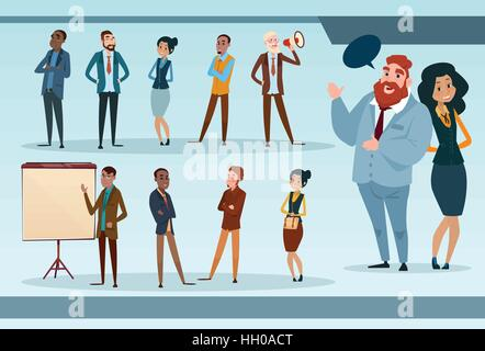 Business People Team Mix Race Businesspeople Group Working Set - Stock Photo