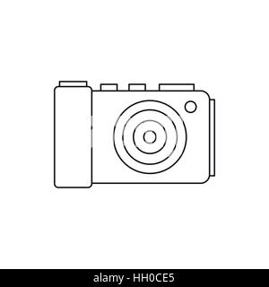 Camera icon in outline style - Stock Photo