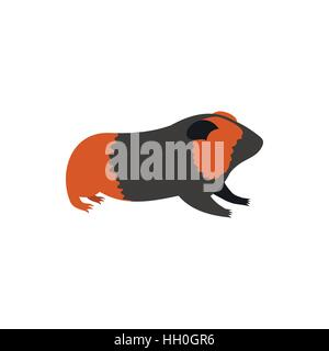 Guinea pig, cavy icon in flat style - Stock Photo