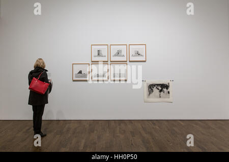 female art gallery visitor - Stock Photo