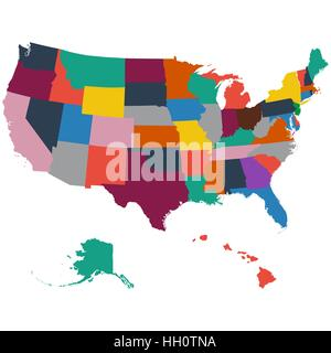 map of the US state of Vermont Stock Vector Art Illustration