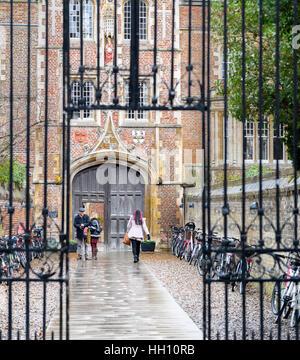 Jesus college at the university of Cambridge, England. - Stock Photo