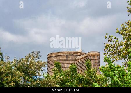 Old town. Panoramic view of Baku, capital of Azerbaijan. - Stock Photo