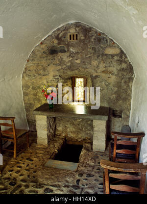 Rhos-on-Sea well chapel, said to have been founded in C5th-6th by St Trillo who built an oratory over a spring used - Stock Photo