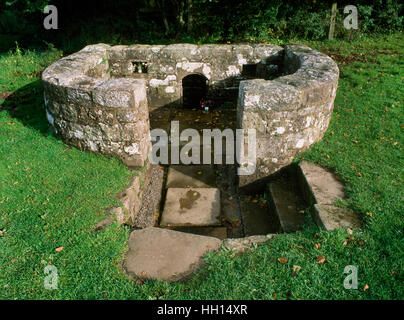 St Anne's Well, Trellech, came to be known as the Virtuous Well because of the 'medicinal virtues' of its iron-bearing - Stock Photo