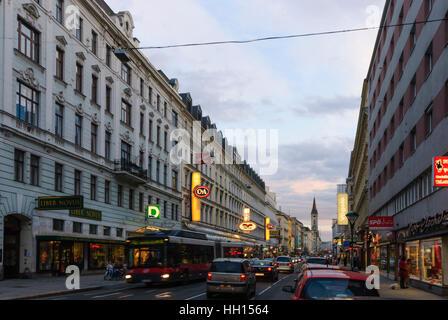 Wien, Vienna: street Landstraße, heart Jesus' church, 03., Wien, Austria - Stock Photo
