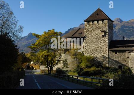 The princely castle of Liechtenstein, Vaduz FL - Stock Photo