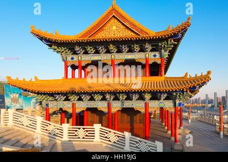 Chinese temple, Yinchuan, Ningxia, China - Stock Photo