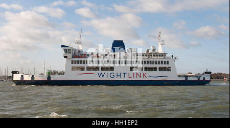 Wightlink Isle of Wight car ferry 'St Cecilia', Portsmouth Harbour, Portsmouth, Hampshire, England, UK - Stock Photo