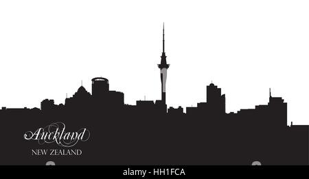auckland silhouette - Stock Photo