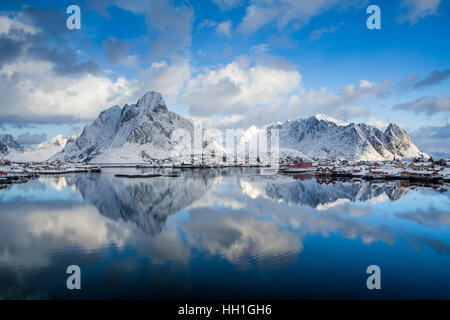 Reine village in Lofoten island, Norway - Stock Photo