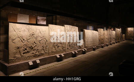 Carvings in Museum of Anatolian Civilizations, Ankara, Turkey - Stock Photo