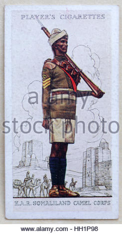 Kings African Rifles, Somaliland Camel Corps in uniform - Stock Photo