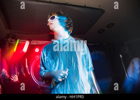 London, UK. 15th Jan, 2017. The Shimmer Band perform at London's Nambucca for This Feeling night. It is a British - Stock Photo