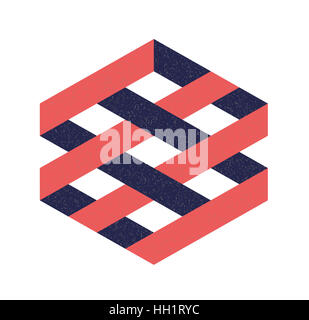Abstract figure as a business logo, sign or symbol - Stock Photo