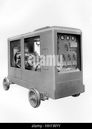 1930 - 40. Fiat - Ansaldo machine. Train components. - Stock Photo