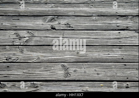 weathered wooden planks with texture - Stock Photo