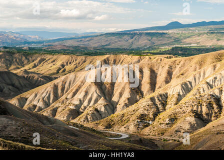 Badlands in the countryside of Sicily, near Biancavilla - Stock Photo