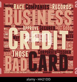 Business credit cards for those with bad credit text background business credit cards for those with bad credit text background wordcloud concept stock photo reheart Images