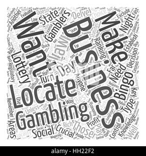 BWG Best Gambling Business Word Cloud Concept - Stock Photo